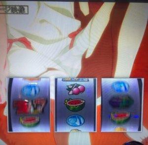A-SLOT偽物語 忍イメージ映像 中リール中段スイカ
